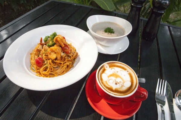 Pasta, Coffee & Soup